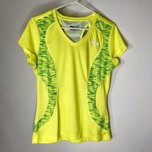 Fila Sport Running Shirt Womens M Pocket